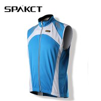 Wholesale Spakct Cycling Jersey - Wholesale-SPAKCT New HO-COOLING Pro Fabric Winter Cycling Jersey Thermal Wind Vest Sleeveless Bicycle Jersey Sportswear, 3 Colors