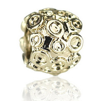 Wholesale Big Hole Beads Golden - Free shipping 5 kinds 2015 New Arrival delicate metal golden inlay Czech diamond drilling 5mm big hole beads for DIY making