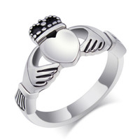 Wholesale Irish Claddagh Rings - Personalized Stainless Steel Ireland Claddagh Rings Irish Claddagh Engagement Ring in Stainless Steel