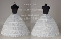 Wholesale hoop crochet for sale - Hot White HOOP Slirt Under Wedding Dress Ball Gowns Crinoline Petticoats Bridal Wedding Accessories vestido de noiva