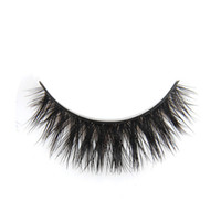 Wholesale Prom Hair Extensions - Wholesale-Free Shipping 1 Pair Charming Elegant Real Mink Hair Black Thick Cross False Extension Eyelashes Makeup Prom Gift