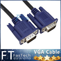 Wholesale Dvi Vga Adapter Wholesale - 1.5M 5FT DVI 24+5 to VGA converter adapter cable VGA male to DVI male cable adapter SVGA VGA Monitor M M Male To Male Extension Cable