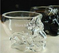 Wholesale Mini Glass Cups - 50pcs lot Mini Liquor Crystal Head Shot Skull Glass Wine Cup