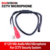 Wholesale Security Microphones - 9-14V DC Power Mini High Sensitive CCTV Microphone Wide Range for Security Camera Audio Surveillance DVR