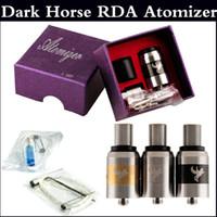 Wholesale rda atomizer clone resale online - Dark Horse Rebuildable Atomizer Huge Vapor dark horse RDA Dripping Atomizer mm Clone with thread work with Box mods via DHL