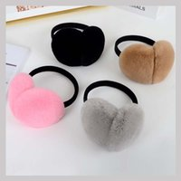 Wholesale Winter Earmuffs - Ms.MinShu Real Rex Rabbit Fur Earmuffs Woman Rabbit Fur Earmuff Christmas Gift Cute Ear Warmer Winter Warm Earmuffs Unisex
