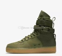 Wholesale Red Gum Boots - New 2017 Special Forces Force Racers Field SF AF1 One Boots Black Gum Light Brown 859202 009 Mens Womens Sport Athletic Trainers size 36-45
