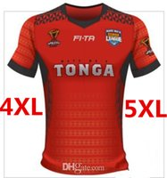 Wholesale Large Size Jerseys - TONGA RUGBY LEAGUE WORLD CUP 2017 HOME JERSEY size S-3XL 2017 New Zealand All Black Rugby Jersey Rugby men euro Extra large size S-3XL-5XL