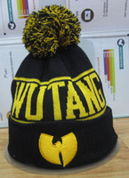 Wholesale Men S Knitted Hats - Wholesale-S PLUS 3pcs Fashion Winter WU TANG CLAN WuTang Touca Beanies For Women Men Gorros Bonnet Knitted Hats Wool Caps Skullies
