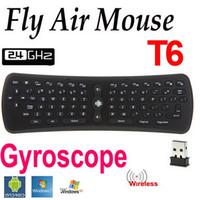 m8 mini tv toptan satış-T6 Kablosuz Hava Uzaktan Klavye 2.4 GHZ Fly Air Fare Android için Uzaktan Klavye CS918 M8 MXIII R28 Android Akıllı TV Set Üstü Kutu Mini PC