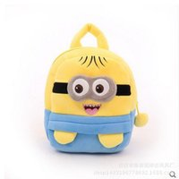 Wholesale Stuffed Toys Wholesale Seller - Wholesale-2016 New cartoon children's school bags cute plush toy stuffed plush backpack backpack sellers han edition Free Shipping