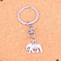 Wholesale men elephant ring - New Arrival Novelty Souvenir Metal Thailand mounts elephant Key Chains Creative Gifts Apple Keychain Key Ring Trinket Car Key Ring