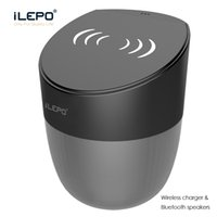 Wholesale Cell Phone Qi Charger - 1 Piece! Wireless Charger Speaker Qi-enabled Fast Charging For Cell Phone Stereo Music Portable Subwoofers With Retail Box Better Charge 3