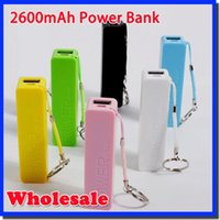 Wholesale Iphone5 New Charger - NEW Power bank 2600mAh USB Power Bank Portable External Battery Charger for iphone5 4S 4 3G Samsung galaxy battery charger03