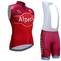 Wholesale Ropa Hombre Hot Men - 2017 New hot sale ALPECIN Cycling sleeveless Jersey Bike Wear Pro TEAM RED Bicycle shirt With (bib) Shorts ropa ciclismo hombre D1006