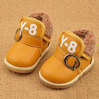 Wholesale Red Boots For Toddlers - Brand winter newborn baby shoes for infant girls boys snow boots genuine PU leather soft sole moccasins toddlers 0-1 years JIA726