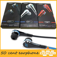 Wholesale mini mp3 sms resale online - earbuds mini Cent Earphones SMS Audio Street by Cent Headphone In Ear headset for Mp3 Mp4 Cell phone tablet