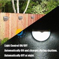 ingrosso recinzione di giardinaggio-All'ingrosso-Nuovo arrivo Pannello di energia solare 6 LED Sensore di luce Impermeabile Outdoor Fence Garden Pathway Lampada da parete Illuminazione bianco caldo bianco