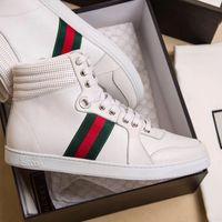 níveis do modelo venda por atacado-Top nível de Luxo sapatos casuais de alta qualidade Genuíno Couro Marca Unisex sapatos de Moda bordado estilo Fresco estilo Handmade modelo 8042250