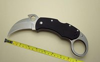 Wholesale Plastic Cnc - CNC New Claw Karambit 440C Blade G10 Handle Folding Claw knife C170