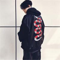 Wholesale long black snake - Streetwear Black Snake Jacket Men 2018 dongguan_wholesale in stock