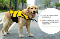Wholesale Swimming Dogs - Dog Pet Water Swimming Life Vest Jacket Clothes Preserver