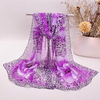 Wholesale Chiffon Flower Buy - New Arrival Women Chiffon Scarf Leopard Flower Printed Scarves Special Price 1 Pcs Free Buy 1 Lot