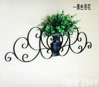 Wholesale Shoe Flower Vases - Ou, wrought iron wall act the role ofing, vases, flower Wall act the role of wall hanging The sitting room wall hanging flower Wall greenery