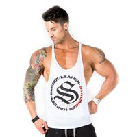 Wholesale Workout Clothes For Men - Workout Clothes For Men Gym Tank Tops Mens Bodybuilding Clothes Hooded Sleeveless Shirt Cotton Mens Racerback Tank Tops GASP