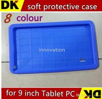Wholesale Cheapest Inches Tablet Cover - cheapest CHpost Soft silicone rubber back cover case for 9 inch A13 A23 A33 android 4.2 4.4 Tablet PC T900 TB8