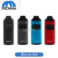Wholesale Blue Tips - Authentic Aspire Breeze Starter Kit 650mAh 2ml TPD Vape Pen Tiny E Cigarette Kit with Protective Drip Tip Cap vs Limitless Pod Icare