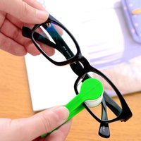 Glasses Cleaner 100pcs / Lot Nouvelle arrivée Mini Microfibre Glasses Cleaner Microfibre Lunettes Lunettes de soleil Eyeglass Cleaner Clean Wipe Tools