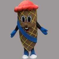 traje de mascote gelo venda por atacado-2016 Hot New: Lovely New Delicioso Ice Cream Mascot Costume Para Festival / Hallooween / Natal