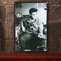 Wholesale Metal Murals - Elvis Presley Vintage Music Poster Retro Painting Picture Cafe Bar Iron Metal Posters Mural Wall Sticker Home Art Decor Tin sign