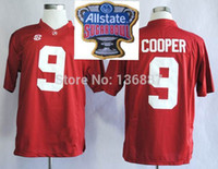 Wholesale Cotton Events - Factory Outlet- 2014-2015 Playoffs Sugar Bowl Special Event #9 Amari Cooper,Alabama Crimson Tide NCAA College Football Jerseys,Embroidery lo