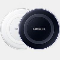 cargador inalámbrico s6 dhl al por mayor-Samsung Annular Cargador inalámbrico cargador Pad con paquete LOGO para S6 / S6 edge / S6 edge + / Note 5 envío de DHL