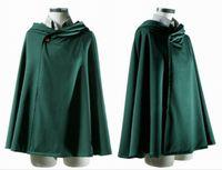 Wholesale Plus Size Halloween Cape - Stylish Attack On Titan Cosplay Cape Cloak Halloween Masquerade Costume Shingeki No Kyojin Coat Clothes EKG*3