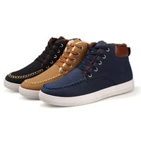 Wholesale Winter Warm Shoes For Men - 2015 New Arrival Men High Top Shoes Winter Warm Shoes Plush Brown Casual Man Shoe Lace Up Flats Shoes For Male zapatos hombre
