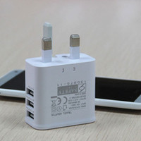 Wholesale British Travel - Adjustable 3 USB Ports UK 3 Flat Pin British Plug Home Travel Wall AC Power Charger Adapter For iPhone6 4S 5S 5C iPad 4 Mini Air