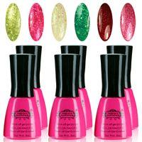 Wholesale Glitter Gel 36 - Wholesale-Perfect Summer Glitter Color UV Gel Polish 6 Colors Gel Nail Polish 8ml 36 Colors for Choose Hot Sale Nail gel