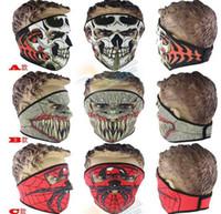 máscaras de neopreno al por mayor-2016 Nuevo Máscara de neopreno del cráneo completo Máscara de Halloween fiesta de disfraces máscara de la moto Moto Esquí Snowboard Máscaras deportivas