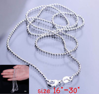 Wholesale Sterling Silver Italian - 925 Sterling Silver Necklace Chain For DIY Necklace Making 16inch - 30inch Size Choose Fashion Italian Jewelry Necklace SH6