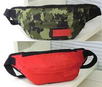 Wholesale Logo Pillow - Box Logo Fanny Pocketes Shoulder Bag wallet Waist Bags Brieftasche FW16 3M Fluorescent Box Logo Pocket Shoulder Bag Leisure Stud Waist Bag