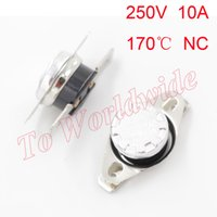 Wholesale Thermal Switch Normally Closed - KSD301 170C Celsius Temperature Switch Thermostat Thermal Protector Normally Closed Assorted Kit