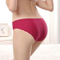 Wholesale Nylon Mature - Yun Meng Ni Underwear High Quality Laser Cut Underwear Sexy Wave Seamless Lady Panties Mature Womens Seamless Underwear