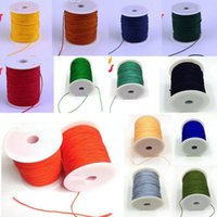 90M / roll 0.8mm Nylon cordon perlage macramé Rattail Tressé chinois Knot fil Bracelet Jewelry Making
