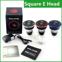 Wholesale Disposable Hookah Shisha - 2016 Square E head E-head e hose e shisha 2400mAh capacity square cartridge refillable e hookah disposable Hookah Rechargeable e head kit