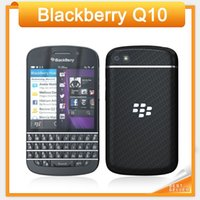 Wholesale Blutooth Phones - Original BlackBerry Q10 4G TLE Mobile Phone BlackBerry OS 10 Dual core 2GB RAM 16GB ROM 8MP Camera GPS WIFI Blutooth cellPhone