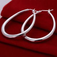 Wholesale Three Heart Dangle Earrings - Brand new sterling silver Three-dimensional U-shaped earrings DFMSE080,women's 925 silver Dangle Chandelier earrings 10 pairs a lot