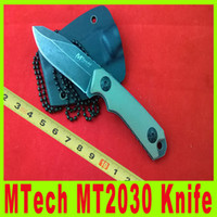Wholesale Hunting Knife Scabbards - 201411 MTech MT2030 4.75 inch Tactical survival neck knife small hunting knife 440 blade with Kydex Scabbard collection knife knives 622X